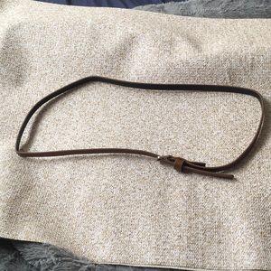 Accessories - Thin Brown Belt